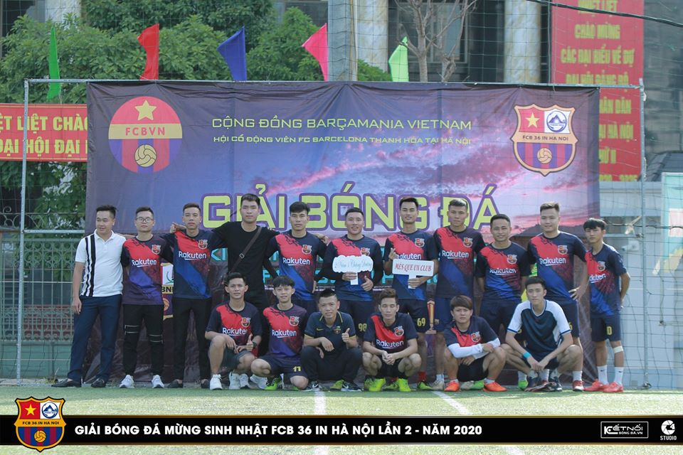 Đội hình của chủ nhà FCB 36 in Hà Nội