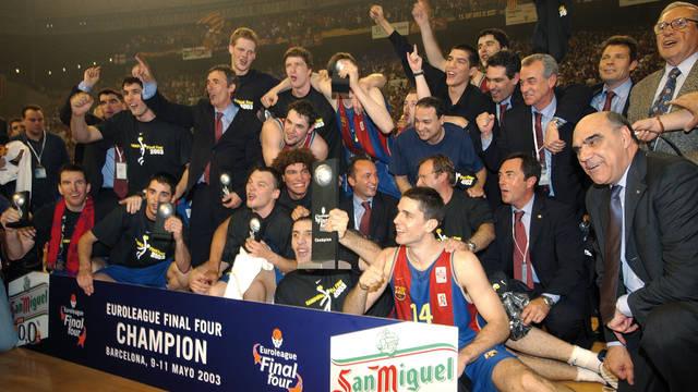 2003. Đội bóng rổ Barça lần đầu vô địch châu Âu