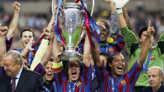 2006. Frank Rijkaard đưa Barcelona lên đỉnh cao châu Âu lần thứ hai tại Paris